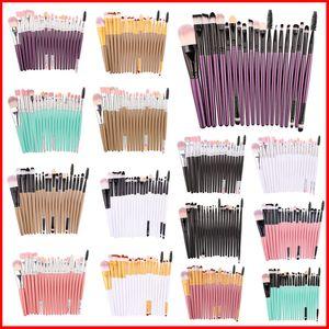 20 Unids Pincel de Maquillaje Profesional Conjunto de Maquillaje Delineador de ojos Sombra de Ojos Rímel Labios Cosméticos Maquillaje Pincel Herramientas Kits