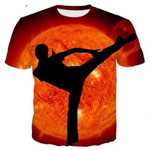 Nueva Moda Hombre / Mujer Superstar Kungfu Chino Divertido Impresión 3D Camiseta Casual Manga Corta Camiseta Divertida Camisetas Tops Camiseta BB21