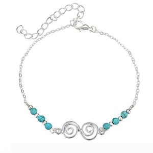 Bohemia Beach Jewelry Anklets for Womens Girls Foot Chain Ankle Bracelet Turquoise Beads Leg Anklet Gift