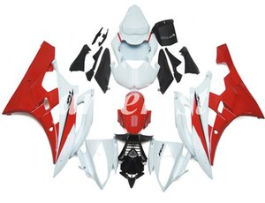 New ABS Injection Mold Motorcycle Fairings Kit Fit for YAMAHA YZF-R6 2006 2007 06 07 R6 Red White flash