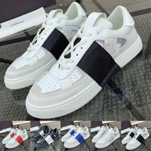 2020 Venta caliente Nuevo mens VL7N zapatillas de deporte de cuero de moda de lujo zapatos de diseño zapatillas de deporte para hombres zapato de entrenamiento casual EN CUERO CALFSKIN