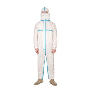 24H DHL FREE SHIPPING Waterproof Isolation Clothes Frenulum Protective Clothing Disposable Gowns One Time Non woven Fabric Protection Suits