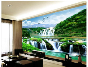 Китайский пейзаж стены водопад фотообои 3D обои 3D обои для ТВ фоне