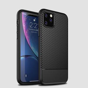 Per iPhone XR XS MAX X 8 Inoltre TPU morbido del Carbon Fiber cassa del grano Super Anti-knock copertura della cassa del telefono di lusso della Phone
