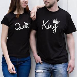 Sweety regina re Coppie Donne maglietta Corona di stampa delle coppie di estate dei vestiti Amante della maglietta regalo per la signora Girl Top Tee