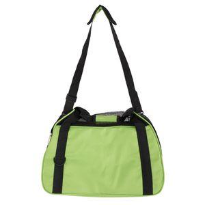 Hollow-out Portable Breathable Waterproof Pet Handbag Green M