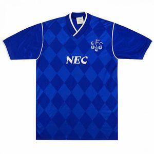 Эвертона ретро классический 1986 1987 футбол Джерси 86/87 футбол Спорт рубашка ретро S-2XL