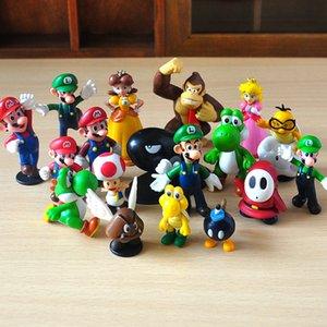 Super Mario Figure di azione di 18 stili di nuovo fumetto gioco Super Mario Yoshi Figure di azione regali di Natale giocattoli per i bambini RRA1584
