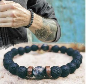 23 Styles Hommes Bracelet Naturel Perle de lune Perle Tibétatan Bouddha Bracelet Chakra Lava Pierre Diffuseur Bracelets Hommes Bijoux Cadeau Drop Expédition