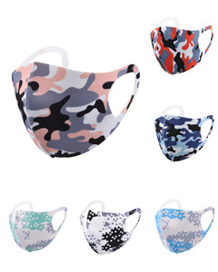 Designer Leopard Camouflage Face Masks Anti-dust Wind Mouth Mask Washable Breathable Outdoor Cyling Bicycle Protective Mask Party Masks