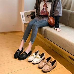 migliore versione! y2019011001 catena di fascino fannullone scarpe basse moda pelle di agnello genuino nero / bianco / beige