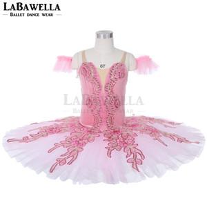 Pink Classical Ballet Tutu Adult Pancake Ballet Professional Tutus Pink Sleeping Beauty Tutu Costumes JY023A