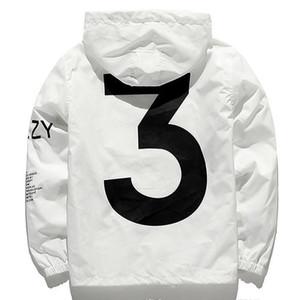 Y3 Kanye West tide brand T-square jacket force brand clothing Hip Hop windbreaker Streetwear Outerwear jacket Bomber Jacket