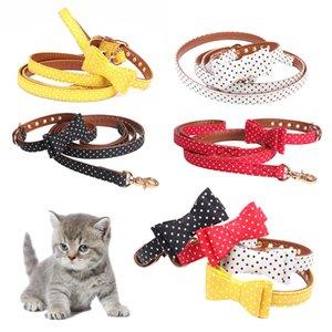 Collar personalizado de cuero para perros Etiquetas de dirección para collar de perros Correa luminosa Gatos Perro brillante D20