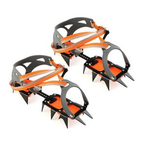 14-point Krampon Manganez Çelik Tırmanma Dişli Kar Buz Tırmanışı Ayakkabı Gripperler Krampon Çekiş Cihazı Dağcılık