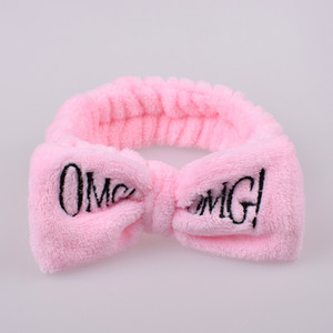 New OMG Headbands Women Bowknot Hairbands Elastic Headwraps Girls Turban Cute Hairlace Bow Hair Band for Makeup face Wash Spa Yoga Shower