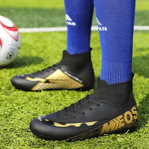 Kid Shoes Turf Men Soccer Shoes Kids Cleats Training Football Boots High Ankle Sport Sneakers Boy Running Safe Football