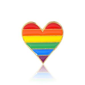 Regenbogen Brosche Herzform Abzeichen Kleidung Kleidung Dekoration Mode Corsage Kreative Einzigartige Frauen Kleid Mantel Schal Pins Geschenke