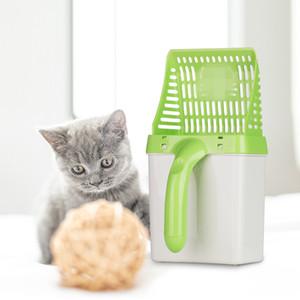 Кошачьи туалеты Лопата для чистки домашних животных Инструмент для чистки кошачьих песков Корм для собак Совки для кошачьего туалета с 15шт.