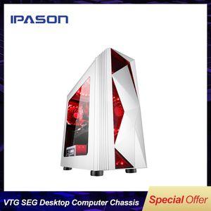 IPASON VTG Seg-Desktop-Computer-Chassis / Computer-Mainframe / wassergekühlter Gaming-PC-Chassis-Matx