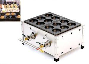 Коммерческая двойная пластина Takoyaki гриль сковорода газ бакуданьяки мейкера машина большая такояки мейкера машина закусочное оборудование