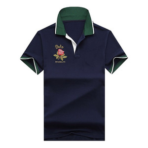 Polo Business Office Polo Shirt New Brand Men Clothing Solid Men Big Horse Embroidery Polo Shirt