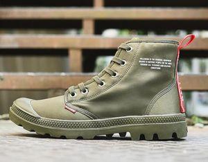 Sıcak Satış-M Pallabrouse Erkekler Yüksek üst Ordusu Askeri yarım bot Branda Sneakers Günlük Ayakkabılar Man Kaymaz spor Shoesl