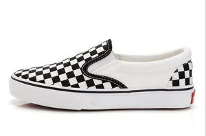 Hot Sale-womenmen scarpe di tela moda Skate Casual Shoes femminile scacchi Slittamento sul carrello Flats Tenis TAGLIA 35-44