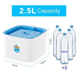 Automatic Cat Water Fountain With LED Electric Water Fountain Dog Cat Pet Drinker Bowl Pet Drinking Fountain 2.5L New Hot