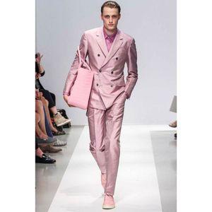 Новый дизайн мужские костюмы зубчатый лацкан свадебные костюмы для мужчин Slim Fit Costumes De Smoking Pour hommes двубортный костюм жениха из двух частей