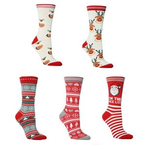 Christmas Women Socks Lovely Printed Winter Breathable Bouncy Skinny Mid Stockings Fashion Women Socks Christmas Costumes