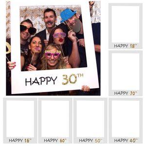 16 18 anni Photo Booth Cornice Happy Birthday PhotoBooth Props 30th 40th 50th 70th 70th Birthday Party Decoration Anniversary