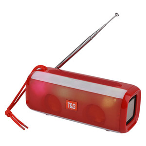 TG144 Altavoz Bluetooth portátil 10W Sonido inalámbrico Estéreo Bocinas para exteriores Soporte para subwoofer LED AUX Radio FM TF USB Luces LED