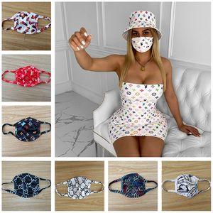 2020 Kadınlar Yüz Yıkanabilir Yüz Doğa Sporları Maskeler Maske Hediye Print Nefes Ağız-mufla Trendy toz geçirmez Moda Letter Baskı Maskeler Maske