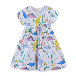 ins Vieeoease Girls Dress Flower Kids Clothing Autumn Fashion Sleeveless Vest Embroidery Princess Party Dress