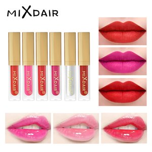 MIXDAIR Highgloss Liquid Lipgloss Matte Lipstick Set Waterproof Long-lasting Sexy Red Lips Tint Full Nude Cosmetic Makeup