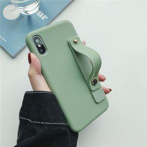 Telefon-Halter-Kasten für iPhone11pro XR Xs max Selbstklebende Handschlaufe Lanyard-Kasten-Silikon-Kasten für iphone 7 8 und heiß