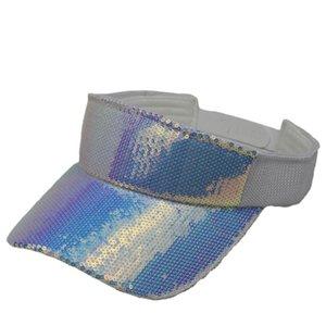 Hip-hop gradient Bling Sequin pare-soleil Cap d'été coloré plage Visor Chapeaux pour hommes femmes