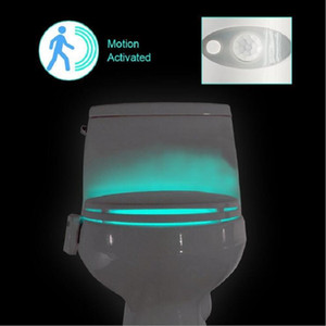 SXI Toliet Human Body Sensore di movimento automatico Sensore di fari con 8 luci di induzione a led di diversi colori