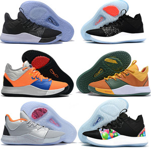 2019 New Paul Zapatillas de baloncesto George PG 3 3S PALMDALE III P.GEORGE Cheap PG3 Starry Blue Orange Red Black Sports Sneakers