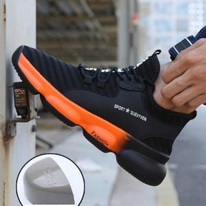 Легкие Стальные Toe безопасности труда Обувь Мужчины Открытый проколостойкий нерушимый безопасности Boots моды Дышащие кроссовки Человек