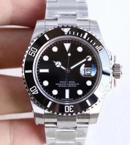U1 مصنع أوتوماتيكي Sapphire الزجاج السيراميكي الأسود Date Stainless Steel Guild Lock Clasp 40m 1166610LN 116610 Mens الساعات