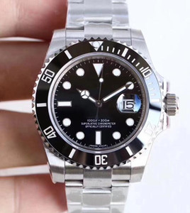 U1 Fábrica Mecánico Automático Cristal de Zafiro Negro Cerámica Bisel Fecha Acero Inoxidable Guild Lock Broche 40mm 116610LN 116610 Relojes para hombre