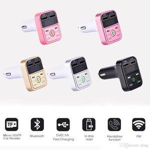 B2 sem fio Bluetooth multifuncional Transmissor FM USB Carregadores de carro adaptador Mini MP3 Kit Jogador titulares TF HandsFree Headsets modulador
