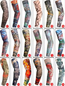 2019 Cycling Sports Tattoo Sleeves UV Cool Arm Sleeves Cycling Running Arm Warmer Sport Elastic Oversleeve Arm Warmers