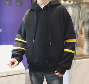 Mens Hoodie Fashion Style Male Casual Hoodies Long Sleeve Sweatshirt for Men with 4 Colors Asian M - 2XL