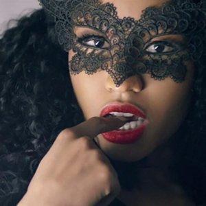 Mode mascarade dentelle Masque Catwoman Halloween Noir Cutout Prom Party Accessoires Masque 10,11 Party Decor Halloween