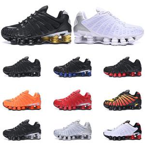 Nike Shox TL chaussures de course blanc Triple Noir Noir Gris Clay orange Sunrise Vitesse rouge formateurs taille baskets sport 40-46