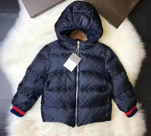 Yüksek kaliteli marka çocuk giyim erkek ve kız kış hoodie kalın ceket çocuk pamuk ceket aşağı ceket çocuk ceketler giysi