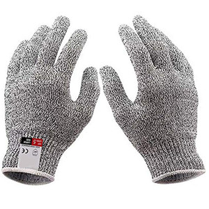 Cut-resistant Gloves Knife Anti-cutting Hand Protection Gloves Food Grade Level 5 Cut Protection Finger Glove Safety Kitchen Glove GGA2722